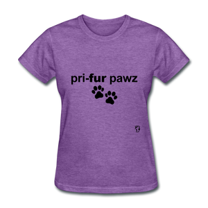 Prefer Paws T-Shirt - purple heather