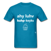 I Love Cupcakes T-Shirt - turquoise