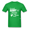 Proud Army Mom T-Shirt - bright green