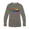 Can't Think Straight Long Sleeve T-Shirt - asphalt gray
