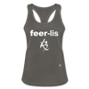 Fearless Racerback Tank Top - charcoal