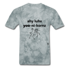 I Love Unicorns T-Shirt - grey tie dye