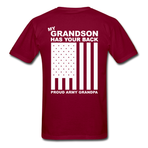 Army Grandpa T-Shirt - burgundy