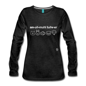 Animal Lover Long Sleeve T-Shirt - charcoal gray