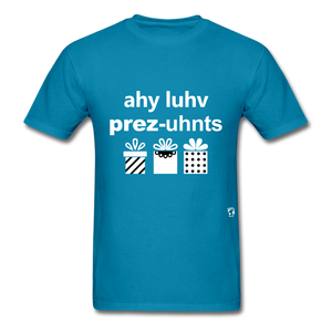 I Love Presents T-Shirt - turquoise