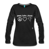 Peace, Love and Cows Long Sleeve T-Shirt - black