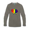 Rainbow Sheep Long Sleeve T-Shirt - asphalt gray