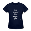 Love in Five Languages T-Shirt - navy