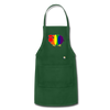 Rainbow Sheep Adjustable Apron - forest green