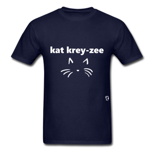 Cat Crazy T-Shirt - navy
