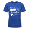 Proud Army Grandpa Red White and Blue T-Shirt - mineral royal