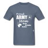 Proud Army Mom T-Shirt - denim