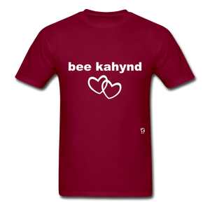 Be Kind T-Shirt - burgundy