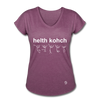 Health Coach Women's Tri-Blend V-Neck T-Shirt - heather plum