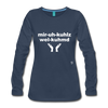 Miracles Welcomed Long Sleeve T-Shirt - navy