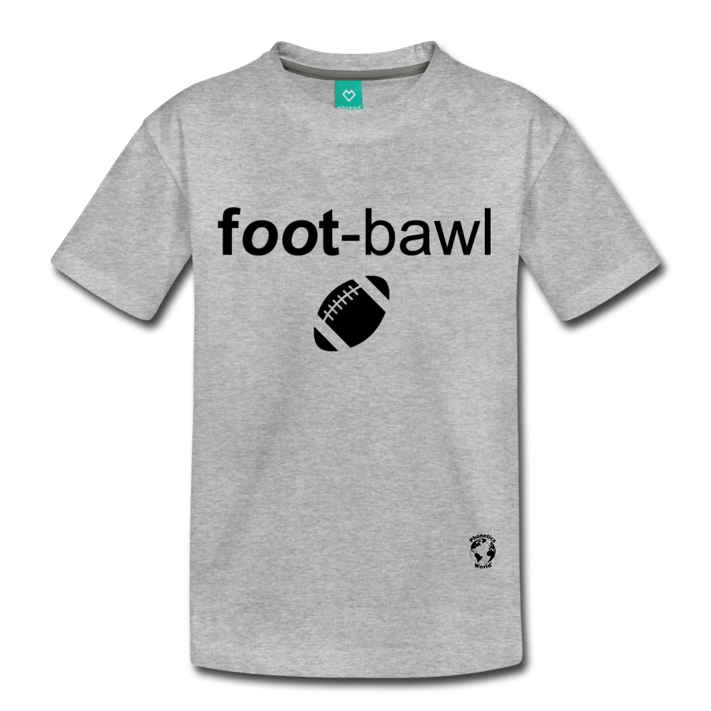 Football Kids' Premium T-Shirt - heather gray