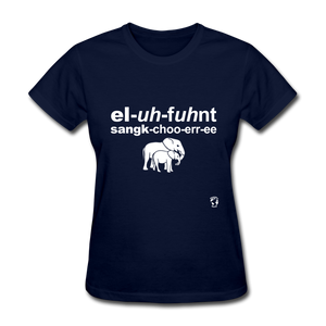 Elephant Sanctuary T-Shirt - navy