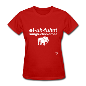 Elephant Sanctuary T-Shirt - red