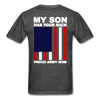 Proud Army Mom Red White and Blue T-Shirt - heather black
