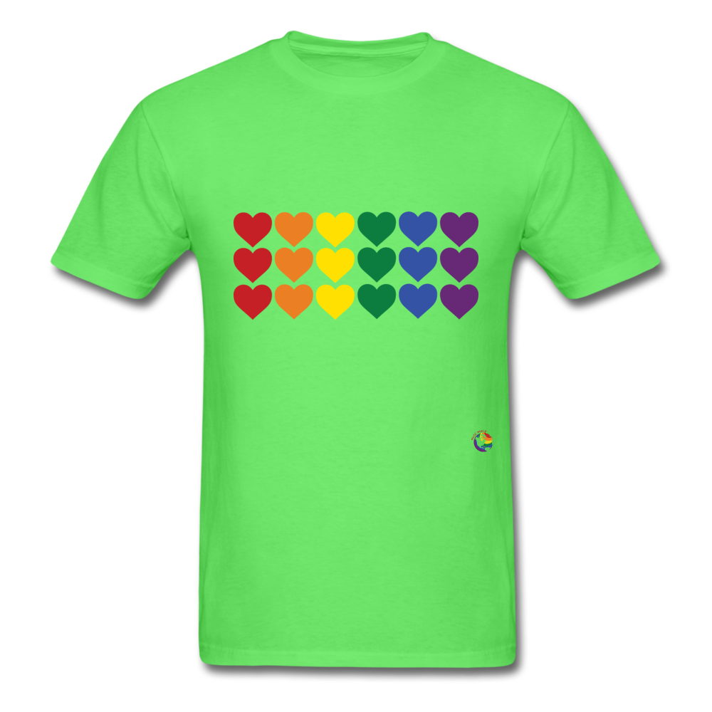Rainbow Hearts T-Shirt - kiwi
