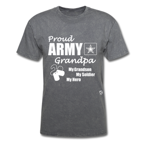 Army Grandpa T-Shirt - mineral charcoal gray