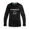 Espresso Long Sleeve T-Shirt - charcoal gray
