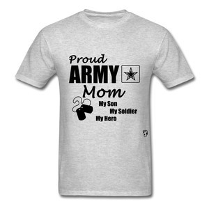 Proud Army Mom Red White and Blue T-Shirt - heather gray