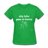 I Love Unicorns T-Shirt - bright green