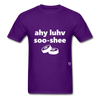 I Love Sushi T-Shirt - purple