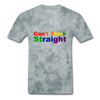 Can't Think Straight T-Shirt - grey tie dye