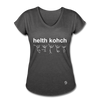 Health Coach Women's Tri-Blend V-Neck T-Shirt - deep heather