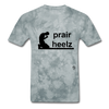 Prayer Heals T-Shirt - grey tie dye