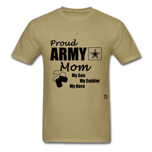 Proud Army Mom Red White and Blue T-Shirt - khaki