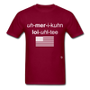 American Loyalty T-Shirt - burgundy