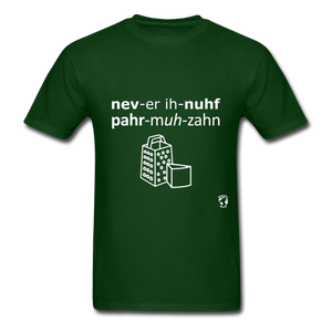 Never Enough Parmesan T-Shirt - forest green