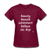 Beauty in Five Languages T-Shirt - burgundy