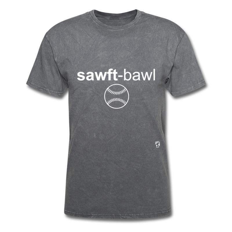 Softball T-Shirt - mineral charcoal gray