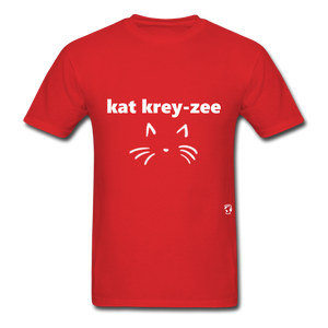 Cat Crazy T-Shirt - red