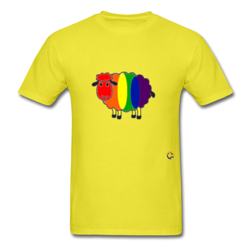 Rainbow Sheep T-Shirt - yellow