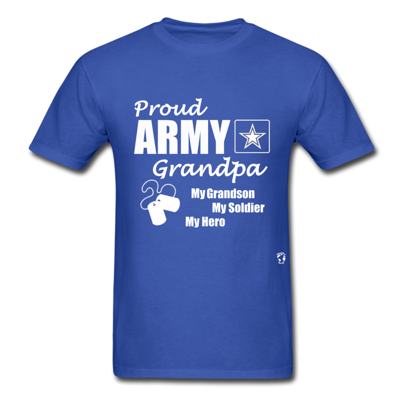 Proud Army Grandpa Red White and Blue T-Shirt - royal blue