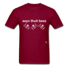 Save the Bees T-Shirt - burgundy
