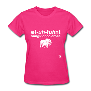 Elephant Sanctuary T-Shirt - fuchsia