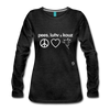 Peace, Love and Cows Long Sleeve T-Shirt - charcoal gray