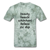 Beauty in Five Languages - military green tie dye