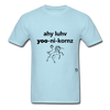 I Love Unicorns T-Shirt - powder blue