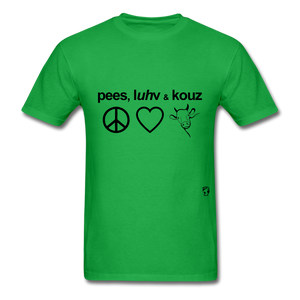 Peace, Love and Cows T-Shirt - bright green