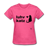 Love Cats T-Shirt - heather pink