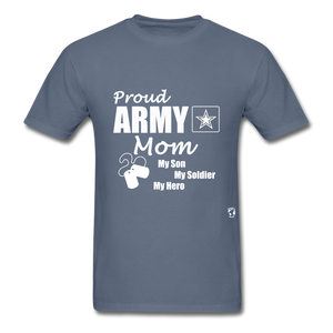 Proud Army Mom Red White and Blue T-Shirt - denim