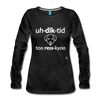 Addicted to Rescue (dog) Long Sleeve T-Shirt - charcoal gray