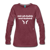 Miracles Welcomed Long Sleeve T-Shirt - heather burgundy